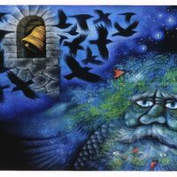 "H. C. Anderseni muinasjutt ""Kellahaud"", 2005, akvarell, guašš"