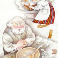 """Leida Tigane. """"Peremees ja sulane"""", 2011, akvarell, värvipliiats"""
