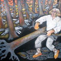 "M. J. Eiseni muinasjutt ""Tugev poiss"", 2006, guašš, värvipliiats"
