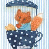 "Illustratsioon ""Tea House"", 2019, mixed media"