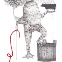 """""""Sada saarelehte, tuhat toomelehte"""", Koolibri, 2010, pliiats, akrüül"""