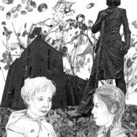 """Siiri Laidla. """"Toometondu"""", 2012, sule-, pliiatsi- ja pintslijoonistused, foto, arvutigraafika, foto: Sulev Kuuse"""