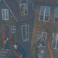 """Jaanus Vaiksoo, Sirje Toomla. """"Aabits"""", Koolibri, 2005, kriitpastell"""