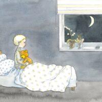 """Helena Bross. """"Vad ska fröken säga"""", Bonnier Carlsen, 2009, akvarell"""