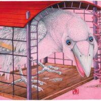 """Leelo Tungal. """"Siil Felix ja päkapliks Kerli"""", 2004, akvarell"""