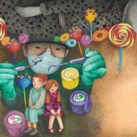 """Leelo Tungal. """"Vanaema on meil nõid"""", Tammerraamat, 2014, akvarell, pliiats"""