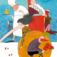 """""""Elas kord…"""". Prantsuse muinasjutt """"Pika ninaga printsess"""", Avita, 2008, akvarell, pliiats"""