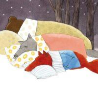 """Ellen Niit. """"Jutt jänesepojast, kes ei tahtnud magama jääda"""", Tiritamm, 2007, akvarell, pliiats"""