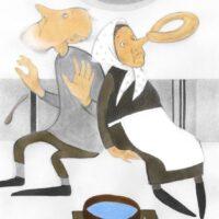 "Fr. R. Kreutzwald. ""Lopi ja Lapi"", nimijutt, 2008, akvarell, pliiats"
