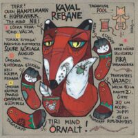 "Postkaart-hampelmann ""Kaval rebane"", 2012, segatehnika"