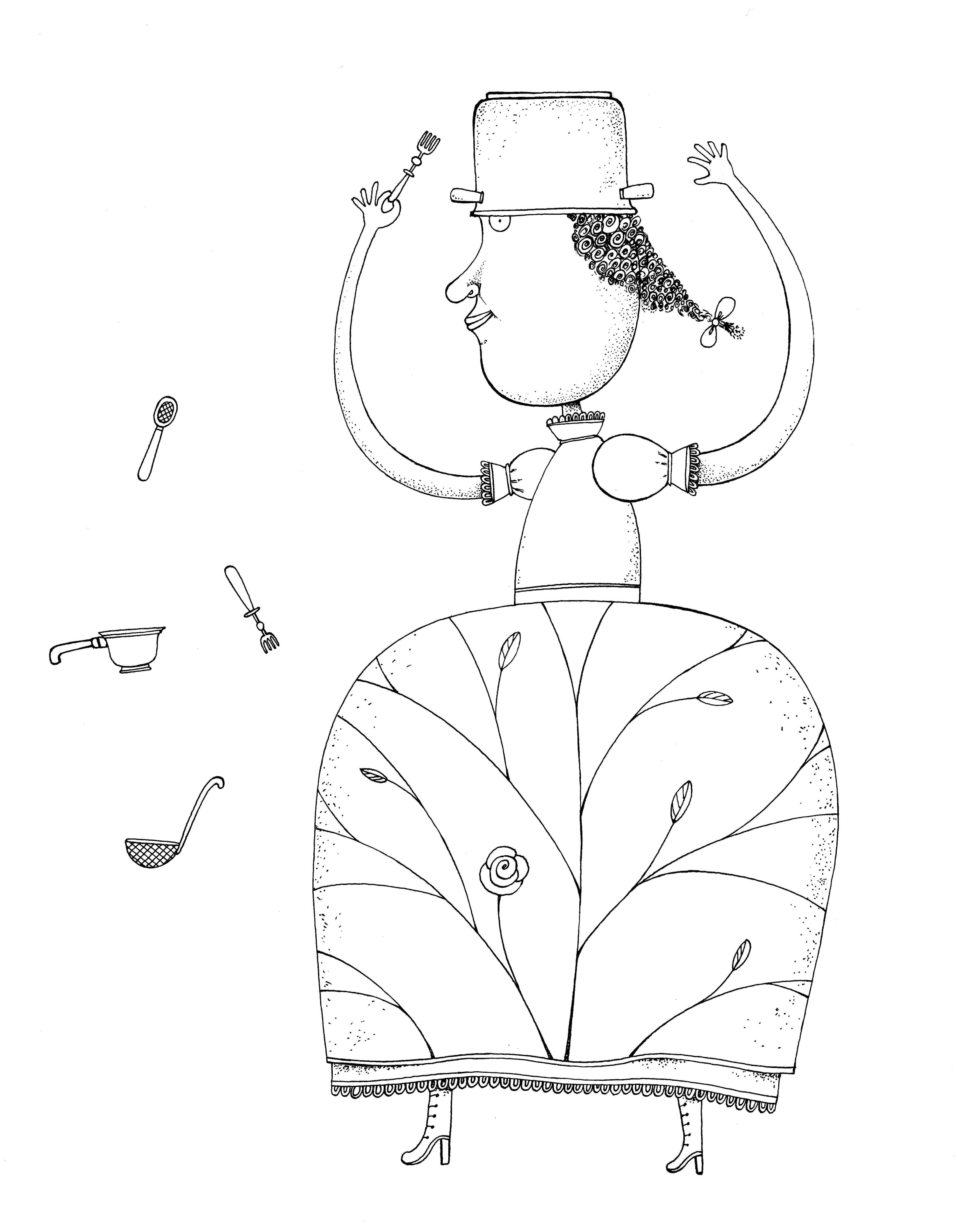 """Piret Raud. """"Teistmoodi printsessilood"""", 2013, tušš"""