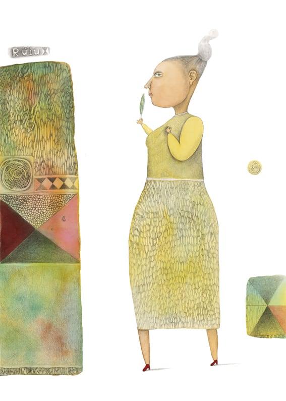 """""""Elas kord..."""". Z. Topelius """"Rätsepast, kes Soome- ja Rootsimaa kokku õmbles"""", 2008, akvarell, harilik pliiats"""