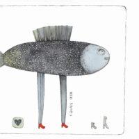 """Illustratsioon """"Kala kingad"""", 2011, tušš, akvarell"""