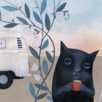Hilli Rand. Snowy White and Pitch Black, Päike ja Pilv, 2014, acrylic, mixed media