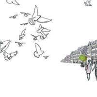 Kristi Kangilaski. Tiu and the Dove, Päike ja Pilv, 2014, drawing, digital treatment