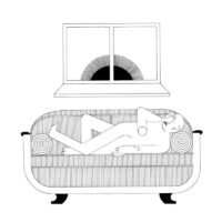 Waiting For Sun, illustration, 2017, ink