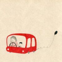 In Tormi's Car, illustration, 2017, ink