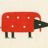 A Hedgehog, illustration, 2019, ink