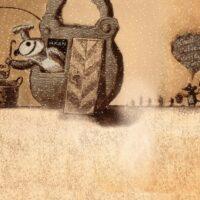 Täheke magazine, 2013, sand animation, digital treatment