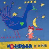 Poster for Monstrinha Animation Festival, 2018, felt tip pen, digital treatment