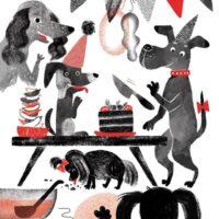"""Kadri Hinrikus. """"Taks ja Dogi"""", Tammerraamat, 2020, digijoonistus"""